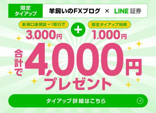 LINE証券[LINE FX]タイアップキャンペーン