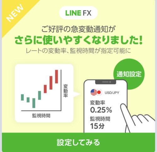 LINE FX急変動通知バージョンアップ